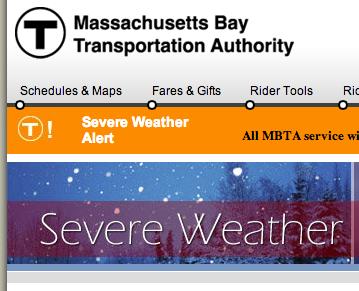 MBTA.com Severe Weather