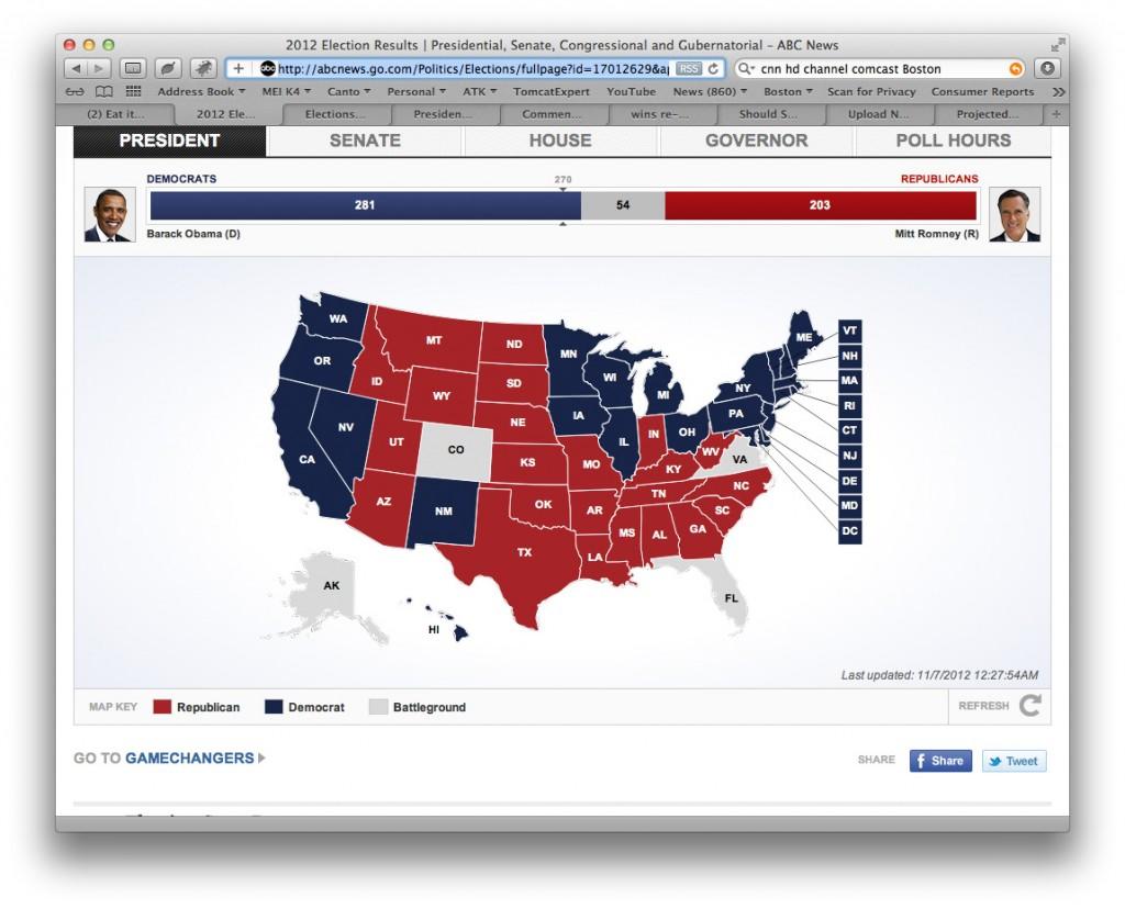 Electoral College map