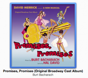 """Promises, Promises"" Original Broadway Cast Album Cover"